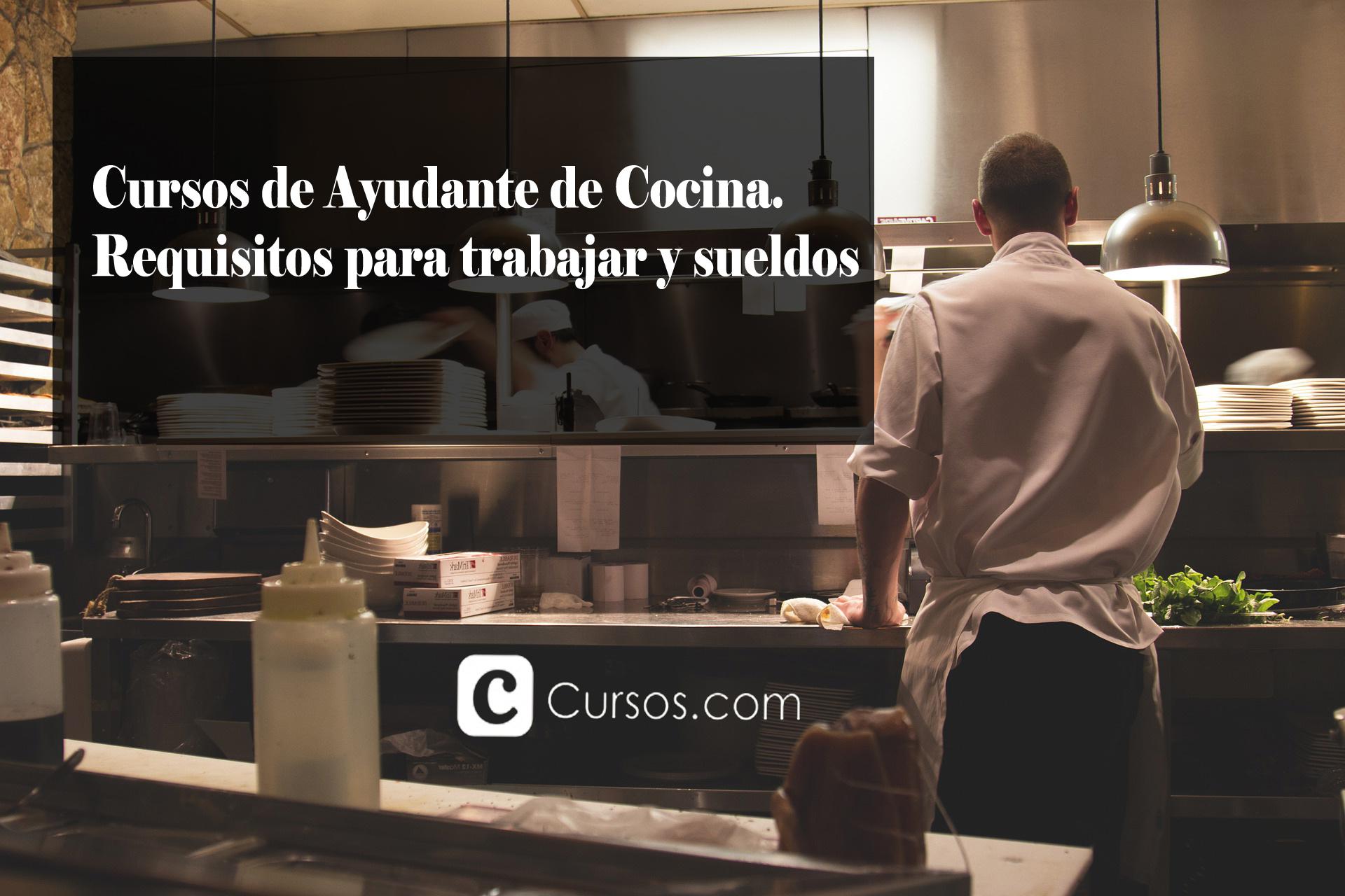 cursos de ayudante de cocina requisitos para trabajar y