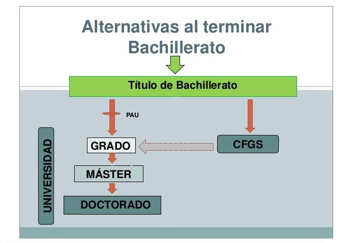 Títulos oficiales tras bachillerato