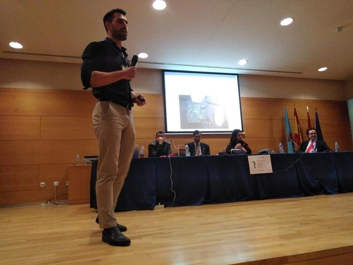 El Inspector del Cuerpo Nacional de Policía Miguel Camacho hablando de Big Data y seguridad en la URJC.