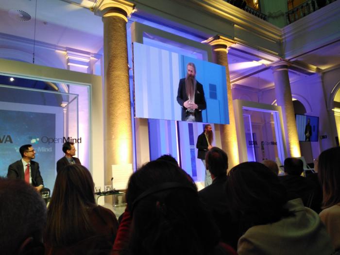 El experto en envejecimiento Aubrey De Grey durante un acto celebrado en MAdrid y organizado por Openmind.