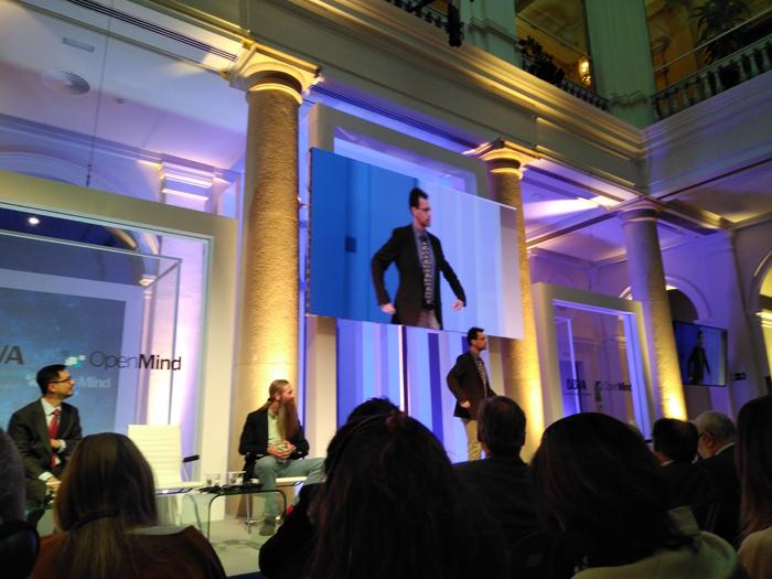 Jonathan Rossiter durante su presentación en el acto del BBVA OpenMind.