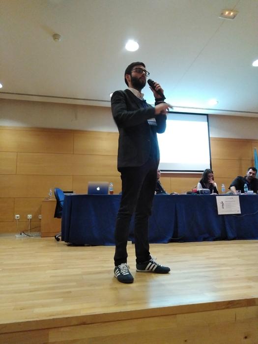 El especialista en marketing digital José Ramón Saura durante su ponencia sobre datos personales, privacidad e identidad digital en la URJC.