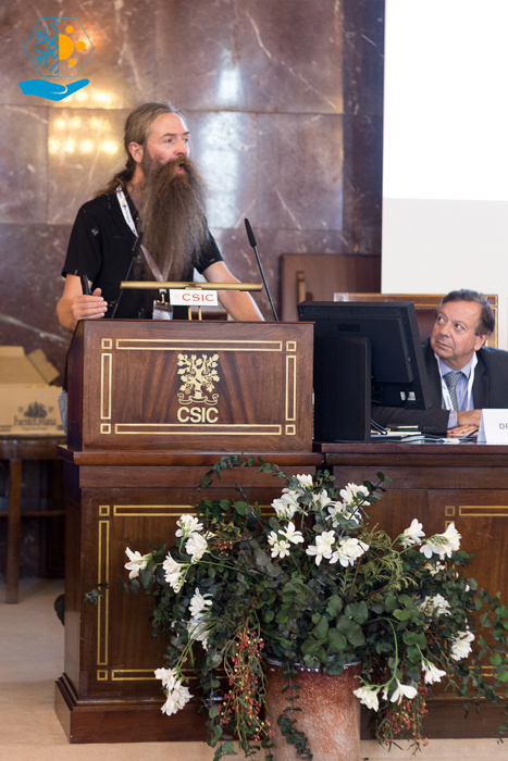 El gerontólogo Aubrey De Grey en el CSIC.