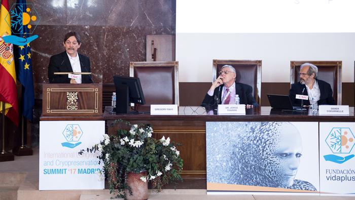 Gregory Fahy en el ILC Summit ´17.
