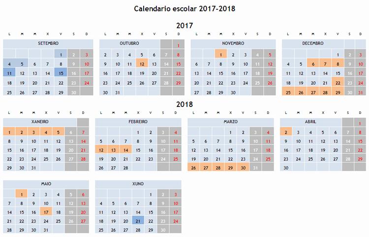 Calendario Escolar Galicia