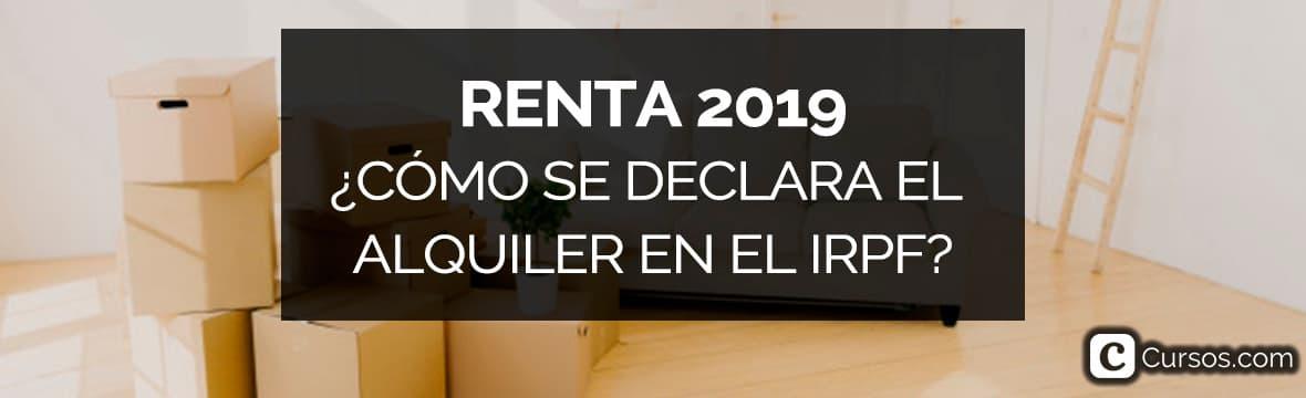 IRPF 2019 de alquileres