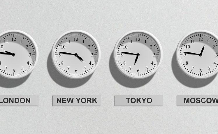 Horas de las principales economías del mundo.