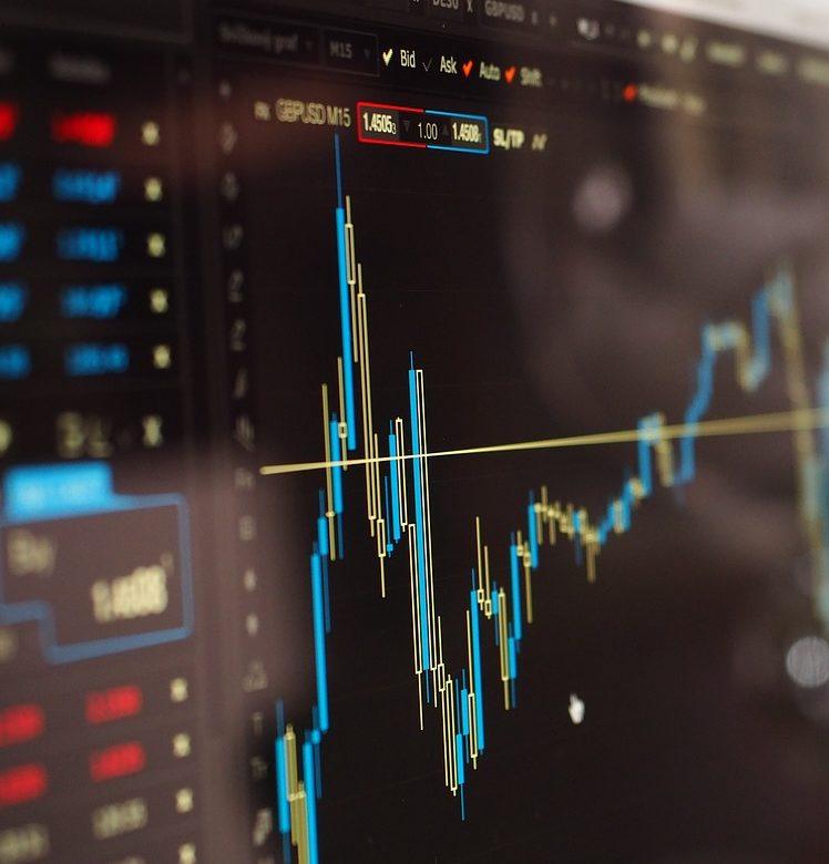 Imagen de las fluctuaciones de las finanzas del mercado de valores.