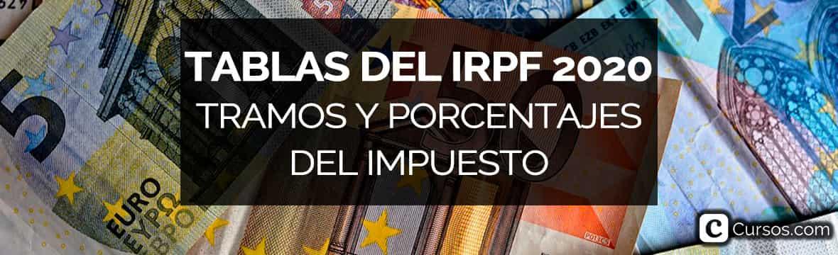 Tablas del IRPF 2020 (declaración de la renta 2019)