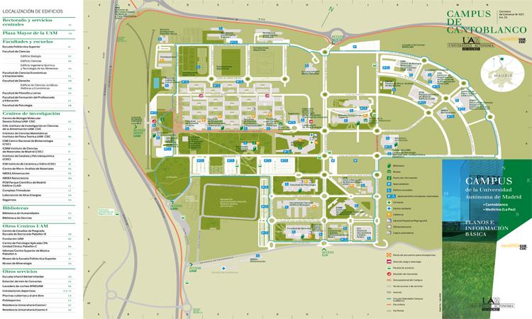 Plano Campus Cantoblanco UAM