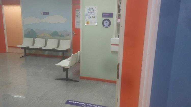 Sala de espera en el hospital