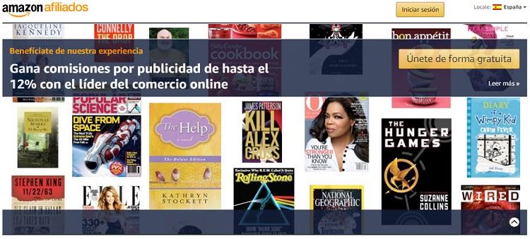 Web de marketing de afiliación de Amazon