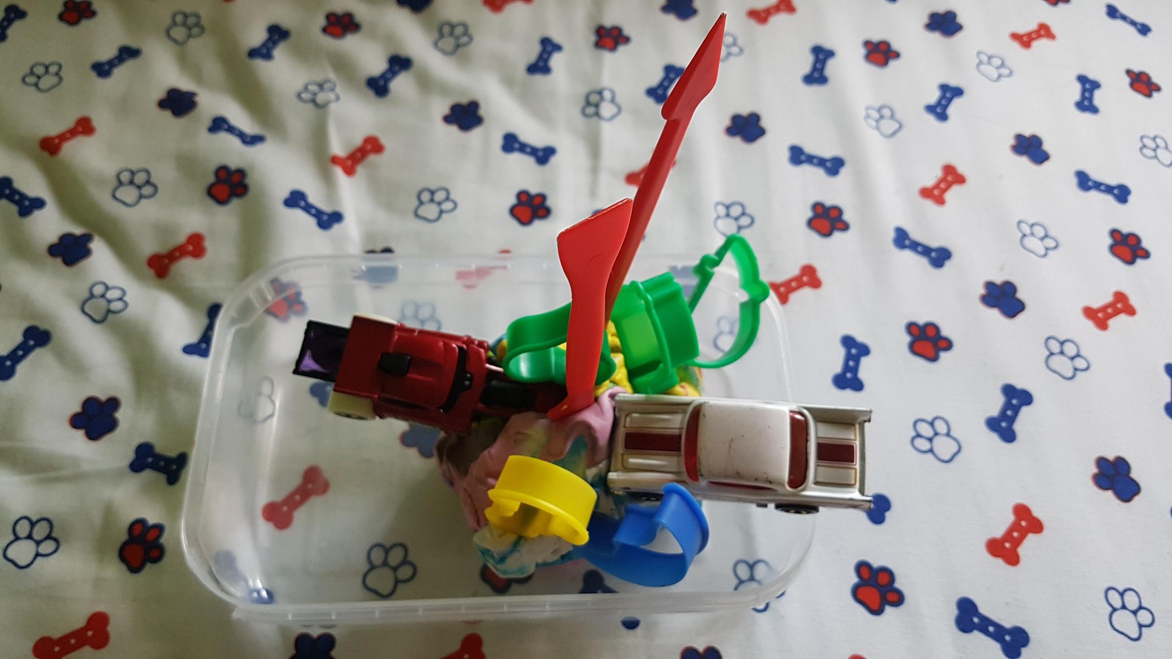 Triceratops diseñado por un niño de 4 años