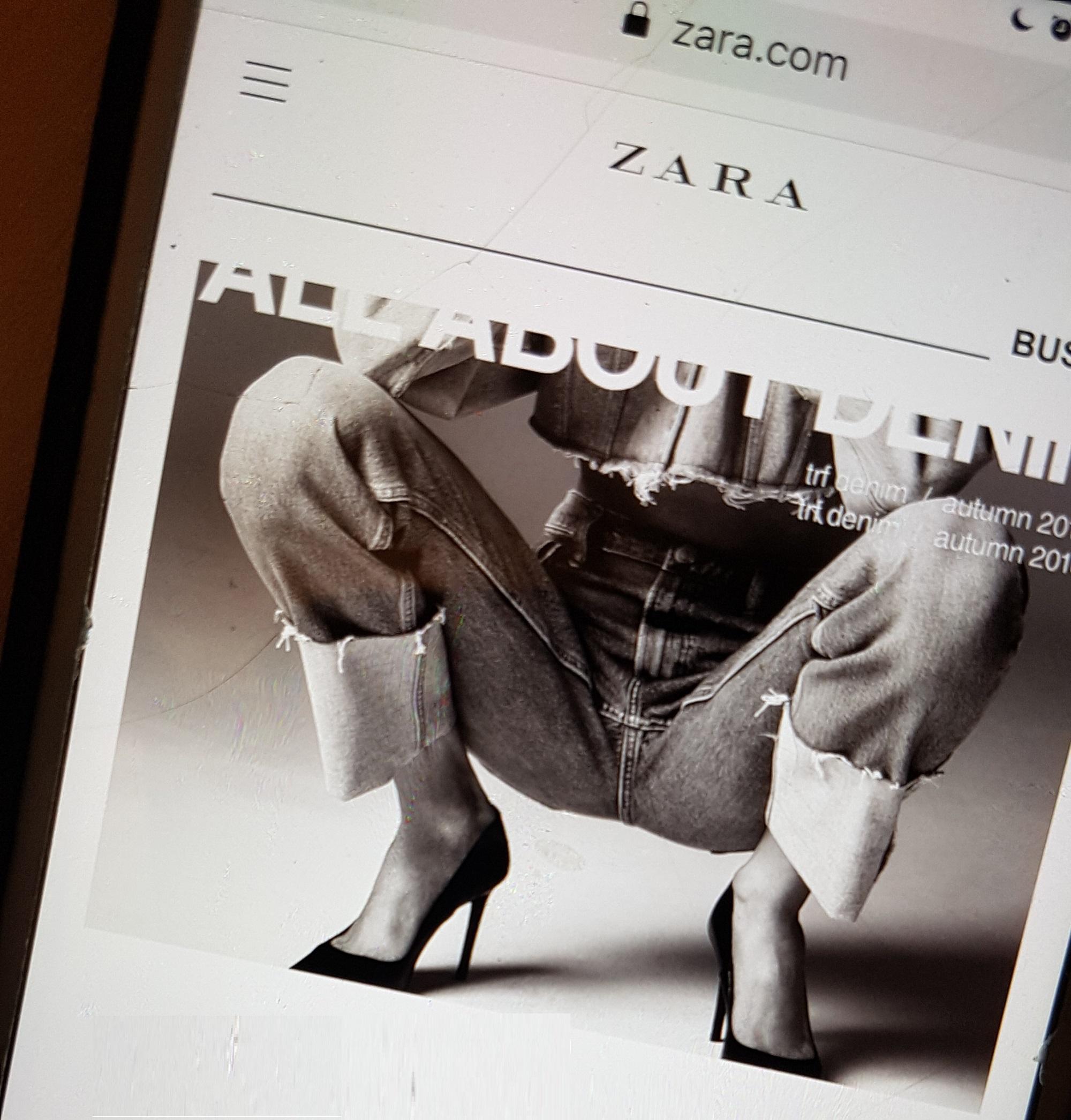 Tienda virtual de Zara en el móvil