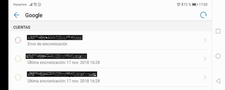 Cuenta de Gmail en Huawei