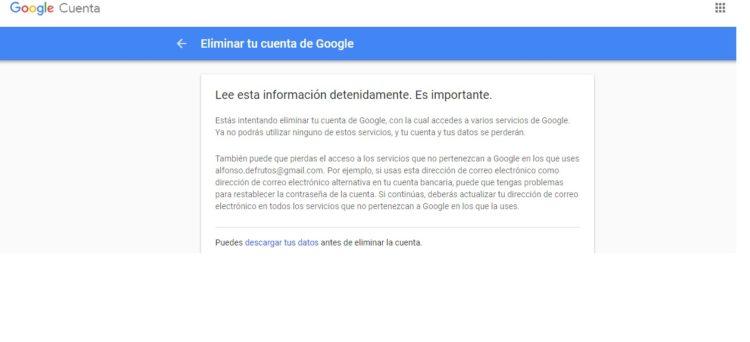 cerrar cuenta de Gmail