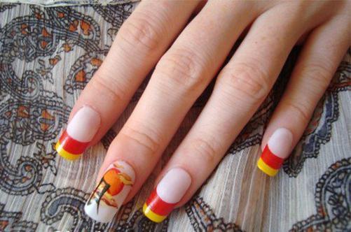Uñas pintadas con manicura Feng Shui