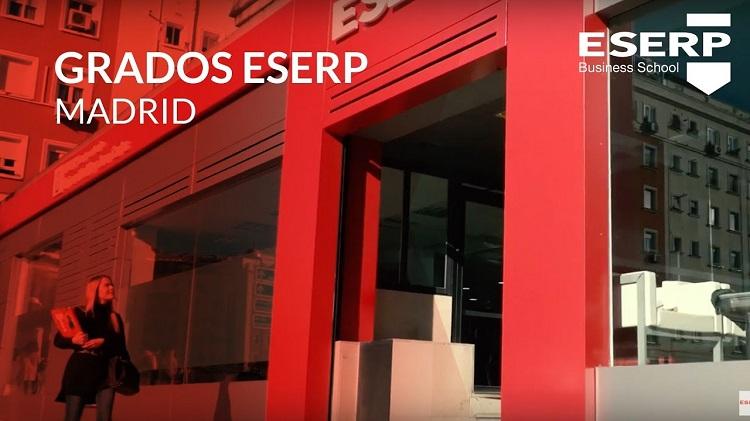 Portada del microsite de la página web de ESERP Business School sobre su sede de Madrid