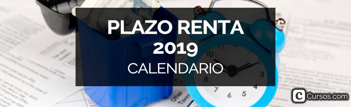 Plazo de la declaración de la renta 2019